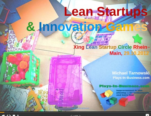 Why You Should I Play Innovation Games in Lean Startups?