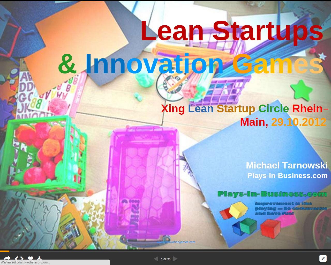 Innovation Games & Lean Startup