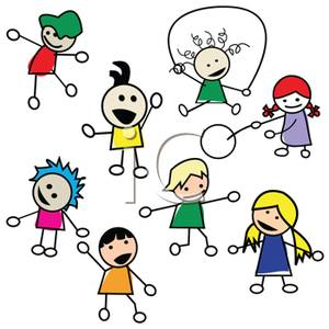 Children Playing - Cartoon