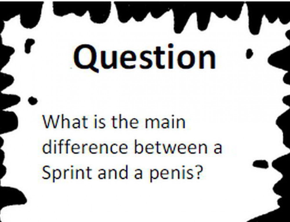 """""""Agile Black and White Stories"""", or What's The Difference between a Sprint and a Penis?"""
