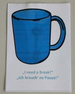 "Self-Facilitation Card ""Break"""