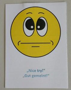 """Self-Facilitation Card """"NiceTry"""""""