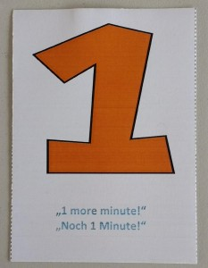 "Self-Facilitation Card ""One"""