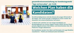 Die Kandidaten zur Bundestagswahl 2017 - Eine konstruktive Diskussion mit Lego Serious Play @ Blue Tower – Lindbergh | Mannheim | Baden-Württemberg | Germany