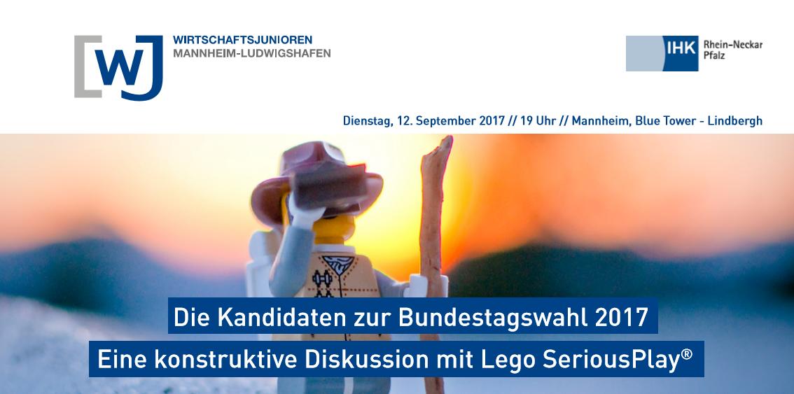 Title Flyer - Die Kandidaten zur Bundestagswahl 2017 - Eine konstruktive Diskussion mit Lego Serious Play