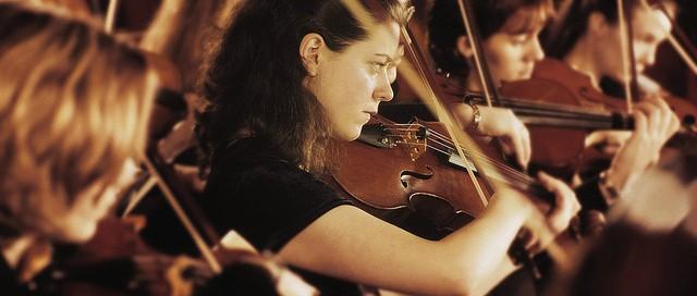 Violino Section Playing